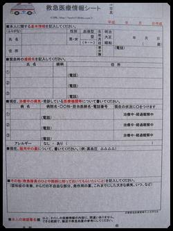 標準の情報シート